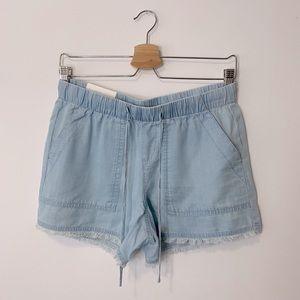 Calvin Klein Chambray Drawstring Utility Shorts
